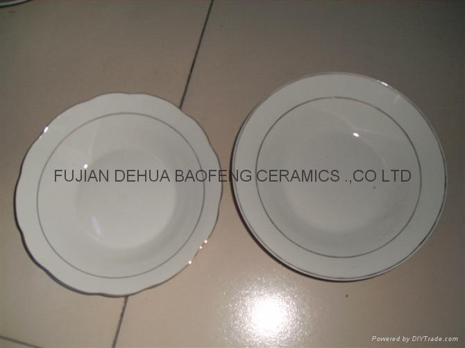 9' soup plate,porcelain soup plate, ceramic plate,porcelain plate, dinnerware 4