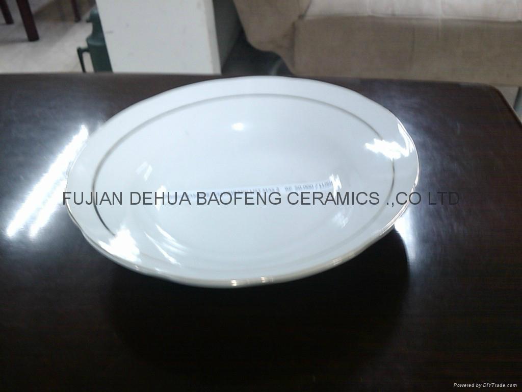 陶瓷9寸反口汤盘 2
