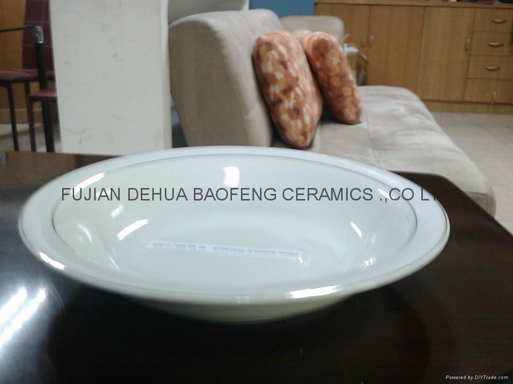 陶瓷9寸反口汤盘 3