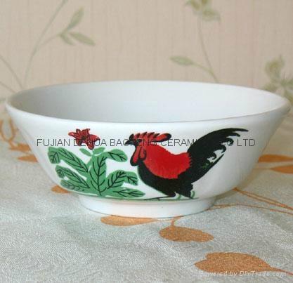 wholesale rooster bowl salad bowl ceramic bowl soup bowl mug plate FDA SGS 1