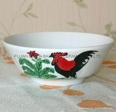 porcelain cock bowl  mangkok ayam
