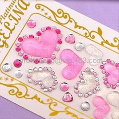 Mobile phone crystal sticker