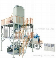 Three-layer co-extruding film blowing machine