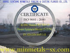 SHANXI XINCHANG MINMETALS FORGING & CASTING FLANGES CO.,LTD.