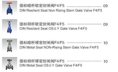 DIN 3352 F4 F5 GATE VA  E GG25 2