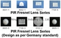 PIR fresnel Lens with Germany standard