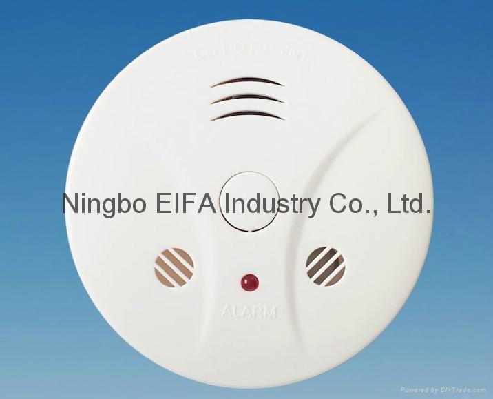 Carbon monoxide & smoke alarm with 9V battery back up EN50291  2