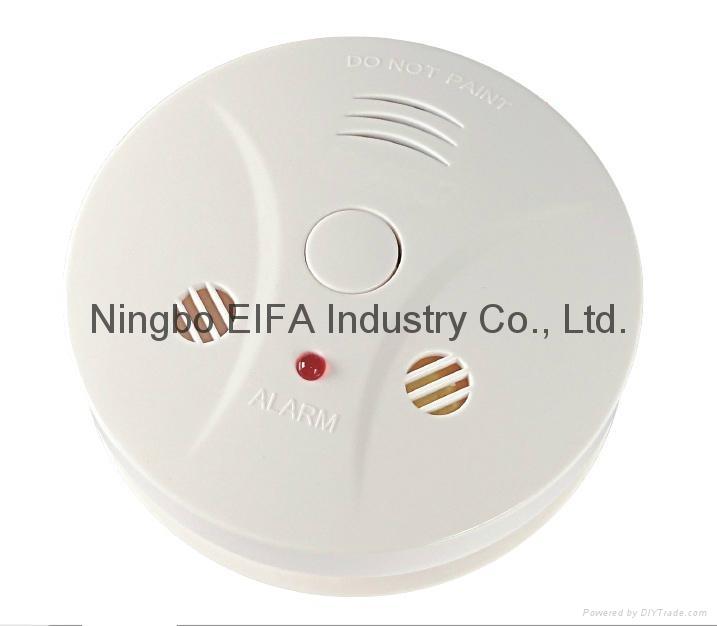 Carbon monoxide & smoke alarm with 9V battery back up EN50291  1
