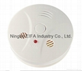 Carbon monoxide & smoke alarm with 9V battery back up EN50291