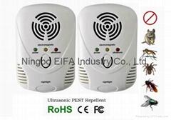 2pack Ultrasonic Pest Repeller/electronic pest control repeller