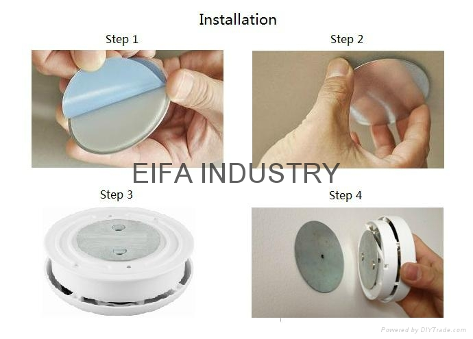 Smoke detector magnet installation kit 5