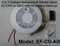 2 in 1 carbon monoxide & smoke alarm