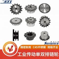 精密同步链轮齿轮 工业传动单双排链轮 电机轴承耐磨链轮