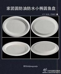 家團圓小橢圓盤紙漿餐具