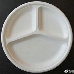 家團圓10寸三格)紙漿圓盤