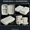 家团圆1000ML双格纸浆餐盒