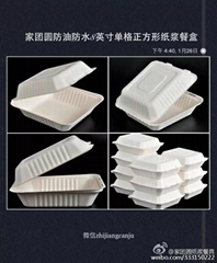 家团圆8英寸单格纸浆餐盒