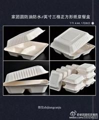 家團圓8英吋三格紙漿餐盒