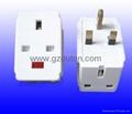 UK  Plug  Adaptor (with light)  (OT-210)
