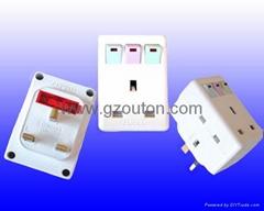 UK Plug Adaptor (with lighting Switch)   (OT-211)