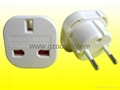 UK To EU Plug Adaptor  (9625)