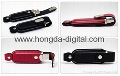 Leather usb flash drive / Memory Stick/ Pen Drive(HDY-ZP11)