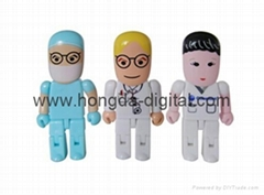 cartoon doctor usb memory flash / Memory Stick/ Pen Drive (HDY-PVC02)
