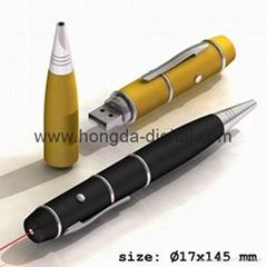 多功能U激光笔、激光U盘、笔U盘、商务礼品