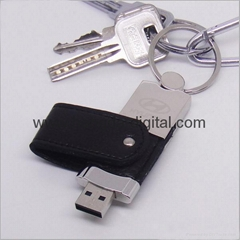 New Model  Leather USB Flash Drive Memory disk (HDY-ZP02)