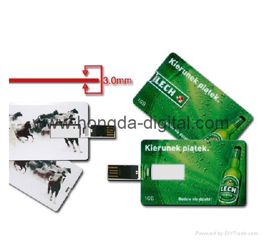 3.0卡片U盘、礼品U盘、名片U盘、可定制LOGO图 1