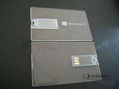 工廠直銷透明亞克力卡片U盤,免費內雕LOGO,也可以印刷