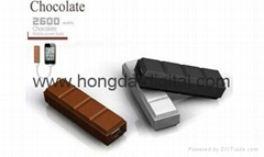 2600mAh Power Bank/ Chocolate Shaped Mobile Charger Portable Power