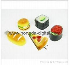 Mini PVC Sushi shaped USB Flash Drives Memory stick pen drive(HDY-PVC16)