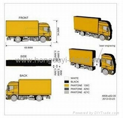 Airplane/Cargo ship/2d truck/Container Truck Shaped USB Flash Drives(HDY-PVC031)