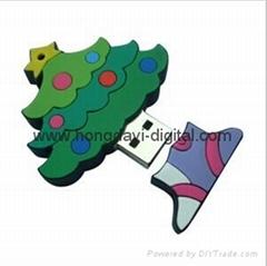 聖誕樹U盤、聖誕老人U盤、創意U盤、可定製