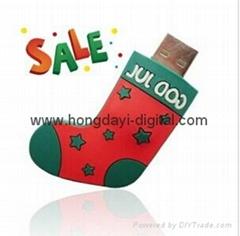 聖誕襪U盤、聖誕禮物U盤、聖誕U盤
