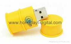 PVC Custom Oil/ Wine Bottle USB Flash Drive Memory stick pen drive(HDY-PVC040)