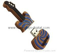 Colorful Guitar Shape USB Flash Drive Memory stick pen drive(HDY-PVC042)
