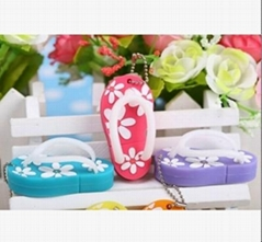 Cute PVC Slippers Shaped USB Flash Drive Memory stick pen drive (HDY-PVC045)