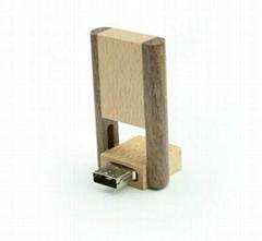 Wooden Swivel  USB Flash Drive/Memory Stick/Pen Drive(H-MT11)