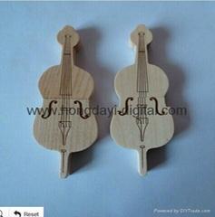 wooden Violoncello Shape USB Flash Drive/ Memory Stick/ Pen Drive  (H-MT15)