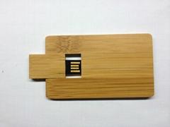 Wooden Credit Card  USB Flash Drive/ Memory Stick/ Pen Drive(H-MT19)