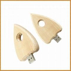 Wooden Heart Shape  USB Flash Drive/ Memory Stick/ Pen Drive (H-MT20)