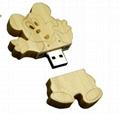 Wooden Disney Mickey Mouse Shape USB