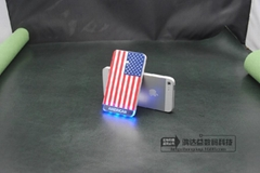 New Style phone 5/5s Shape LED  Laser Logo Power Bank Mobile Battery (H-DY25