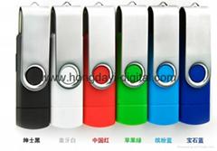 Hot Selling Swivel OTG Cellphone USB Flash Drive/Memory Stick/USB Pen  (H-SL31)