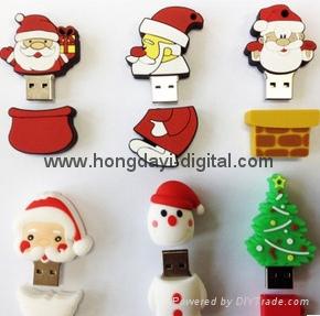 圣诞礼物U盘、圣诞U盘、创意U盘、可定制 11