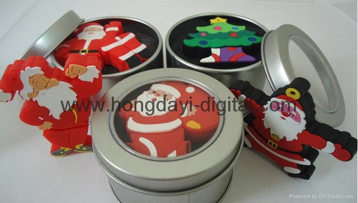 圣诞礼物U盘、圣诞U盘、创意U盘、可定制 4