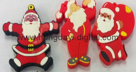 Christmas Gift Box Shaped USB Flash Drive Memory stick pen drive(HDY-SDJ03) 3