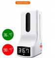Wall mounted hand temperature measurement K9 thermometer sensor liquid soap disp